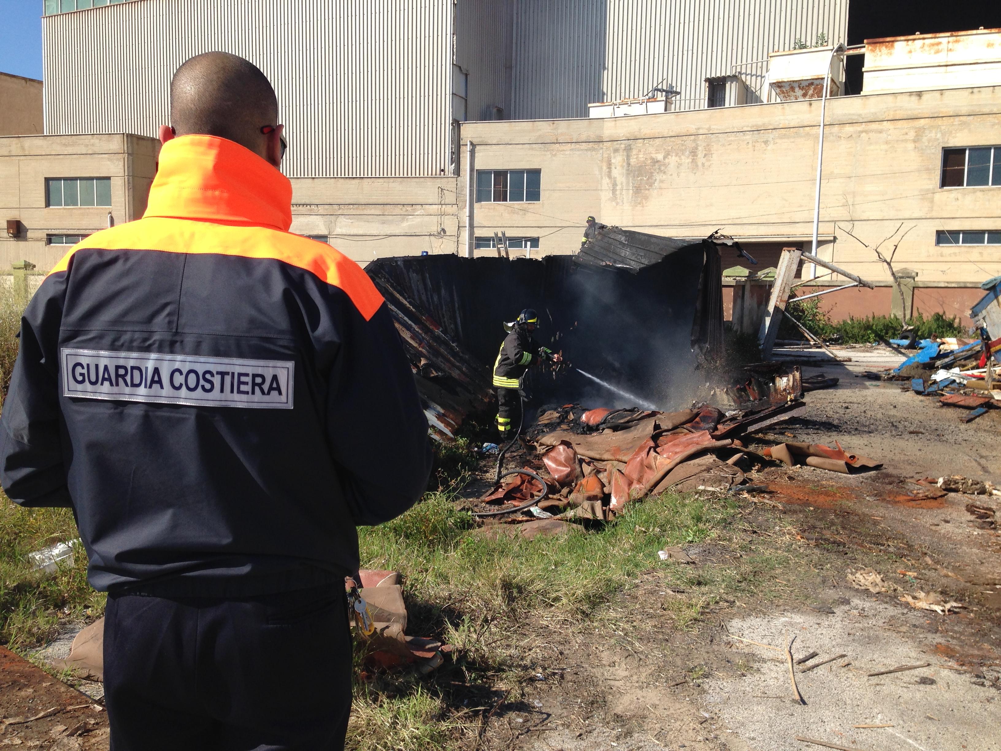 il container a fuoco