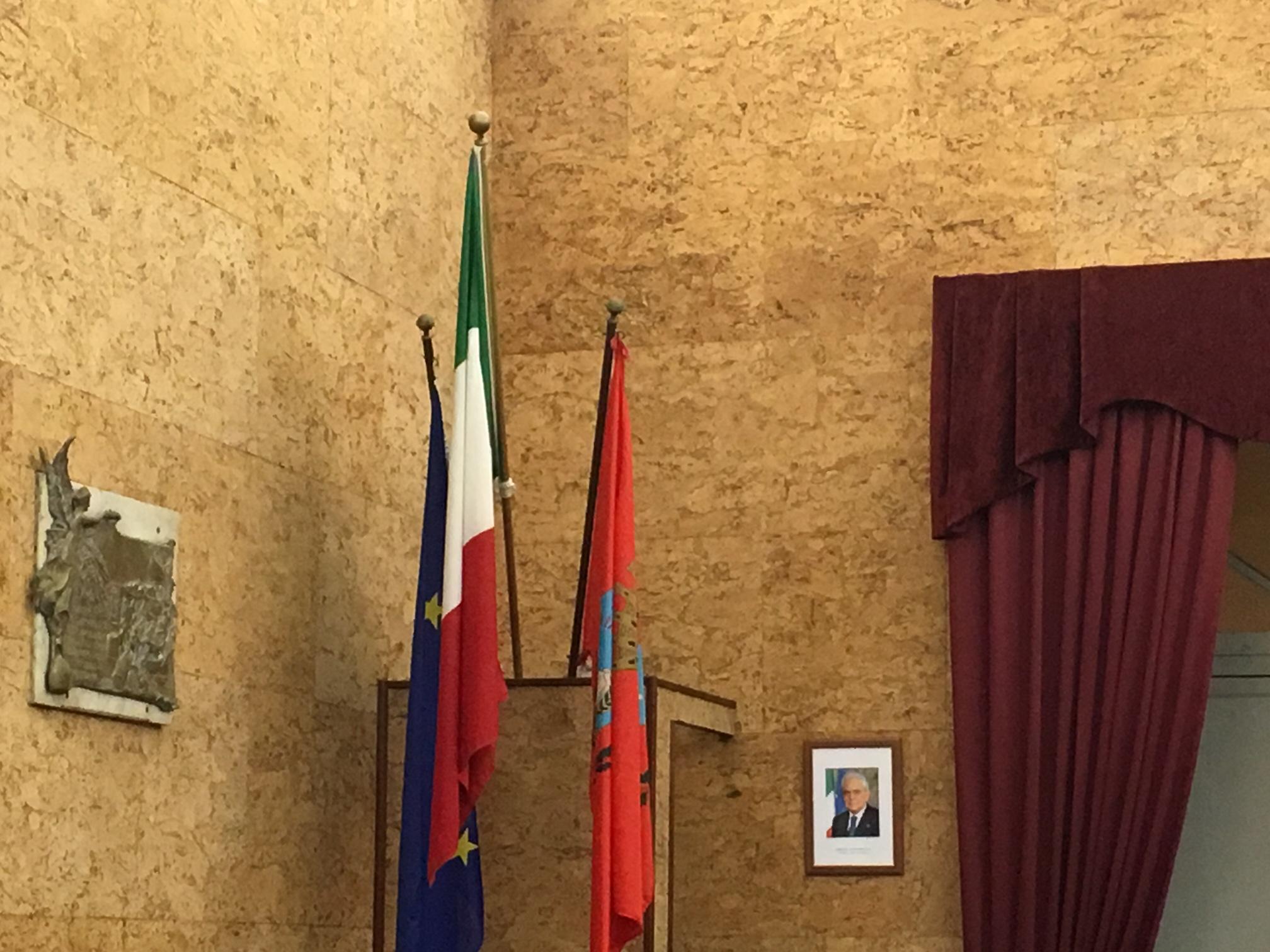Consiglio comunale Marsala Sala delle Lapidi