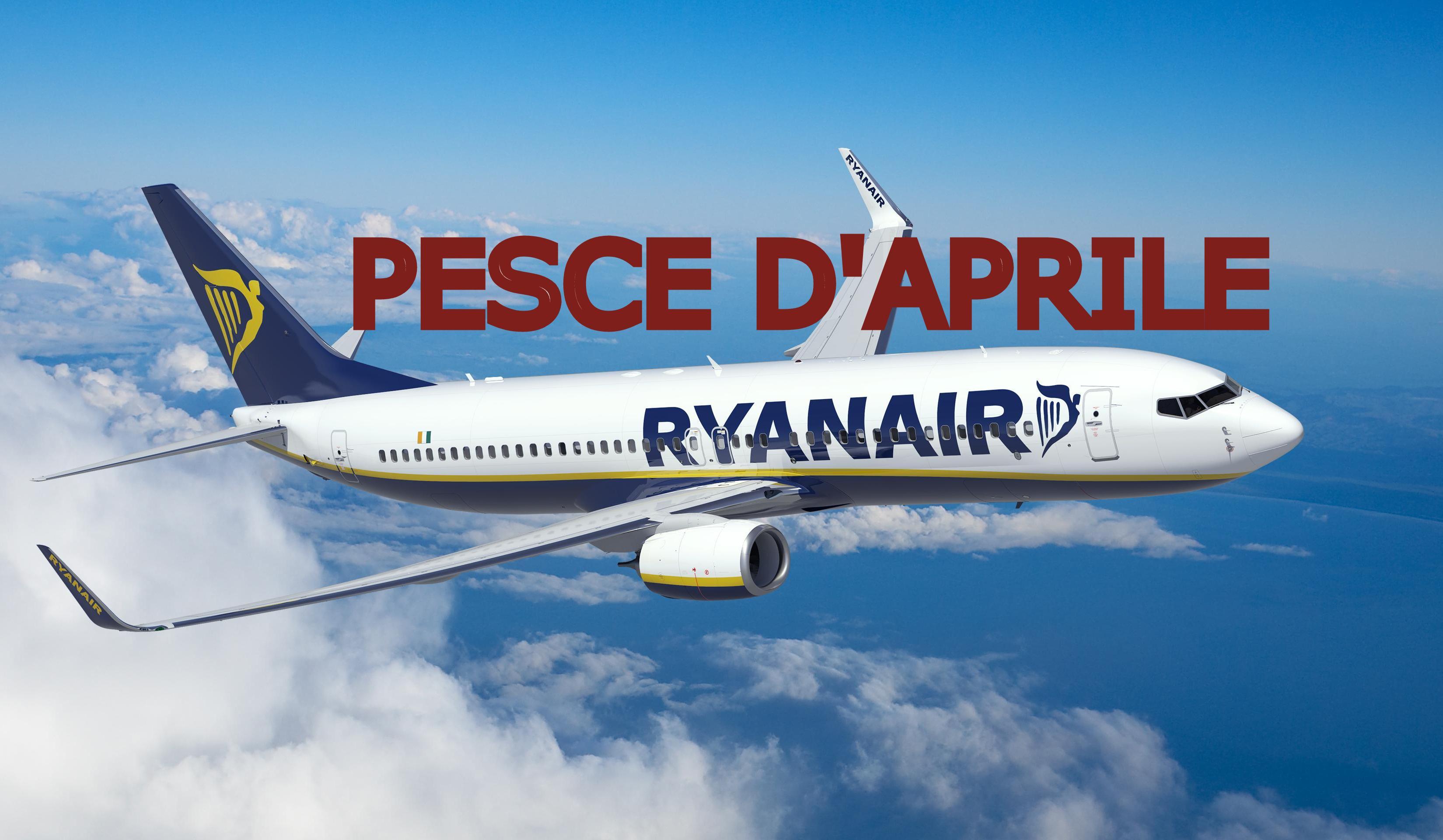 Ryanair pesce d'aprile