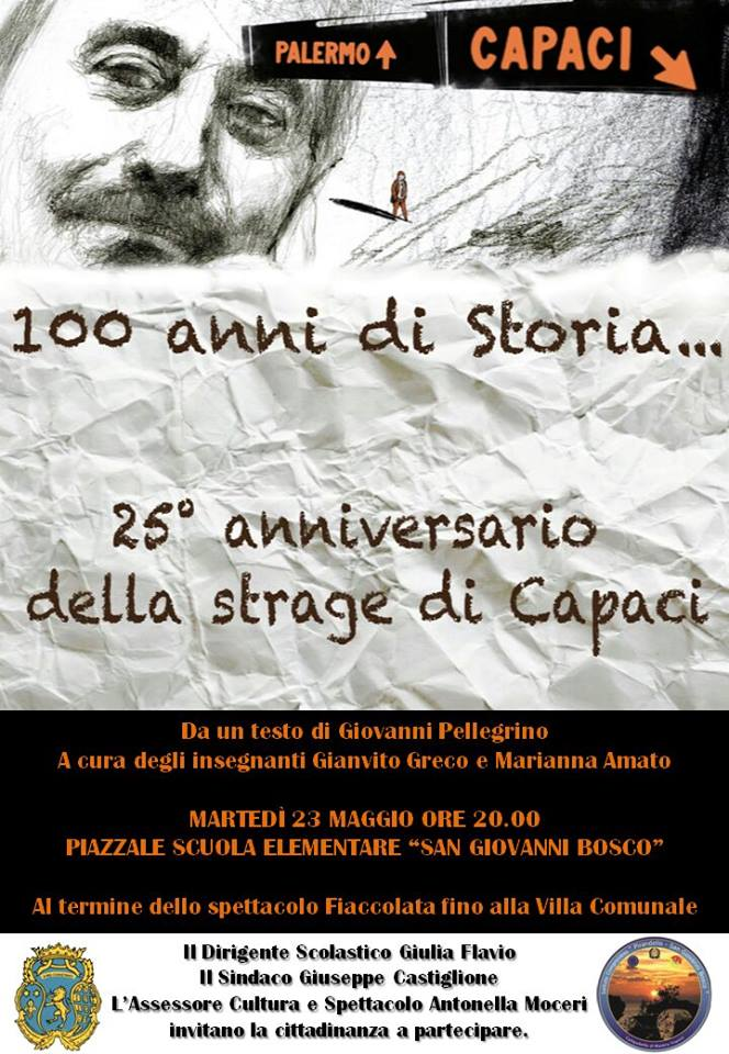 25esimo anniversario della strage di capaci nel piazzale for 25esimo anniversario