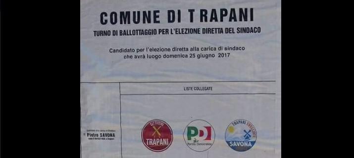 Scheda elettorale ballottaggio Trapani