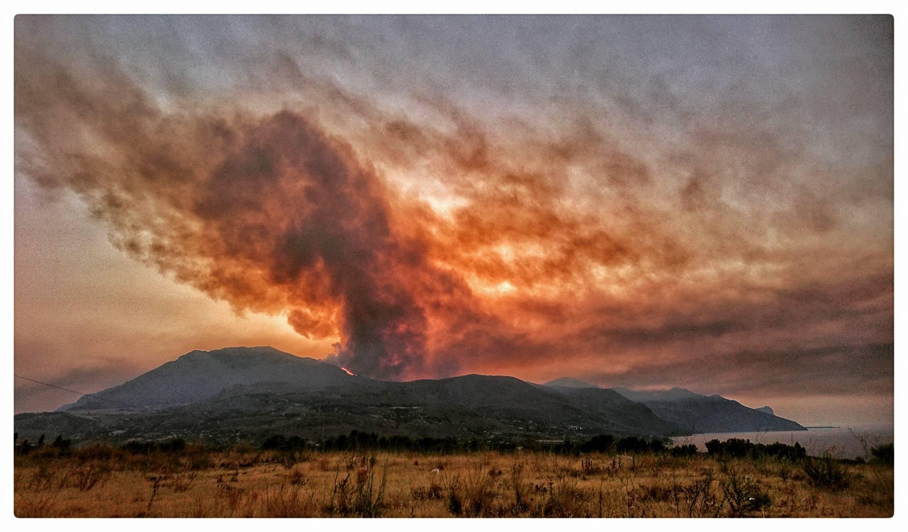 Incendio Riserva dello Zingaro lato sud