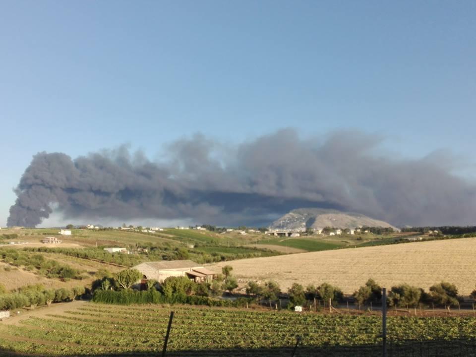 incendio Alcamo