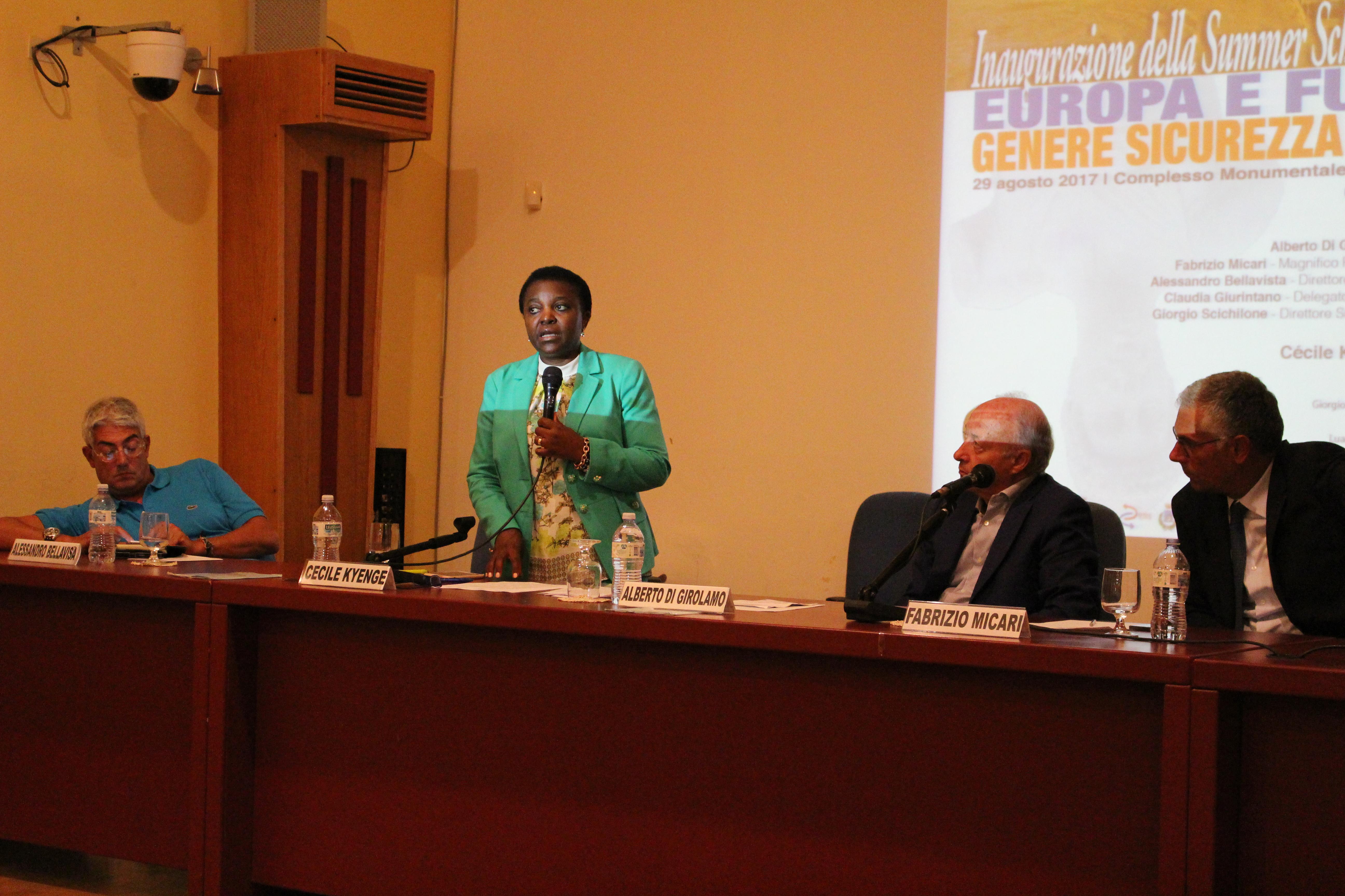 Cecile Kienge Summer School Marsala
