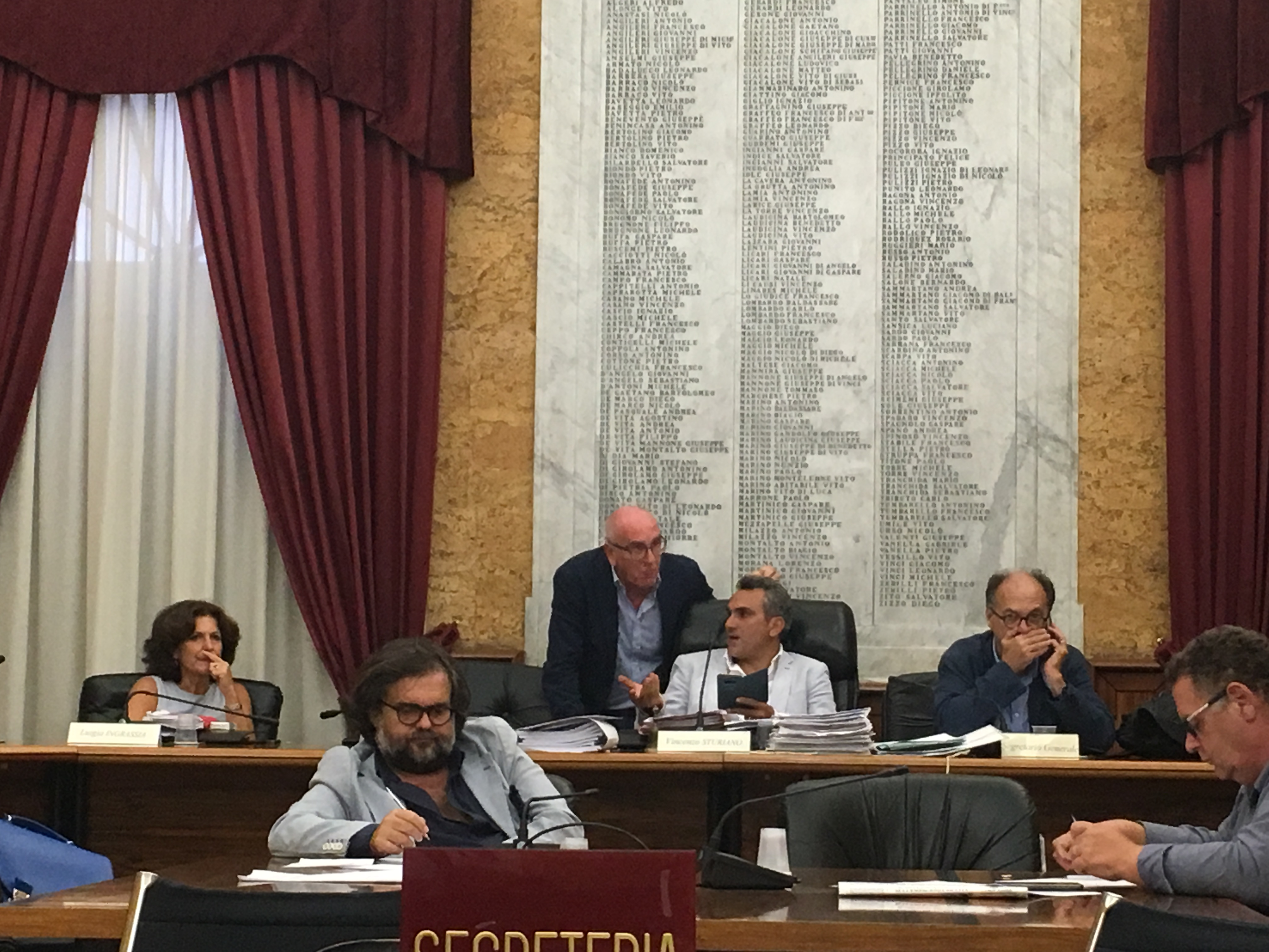 seduta Consiglio comunale di Marsala 12.09.2017