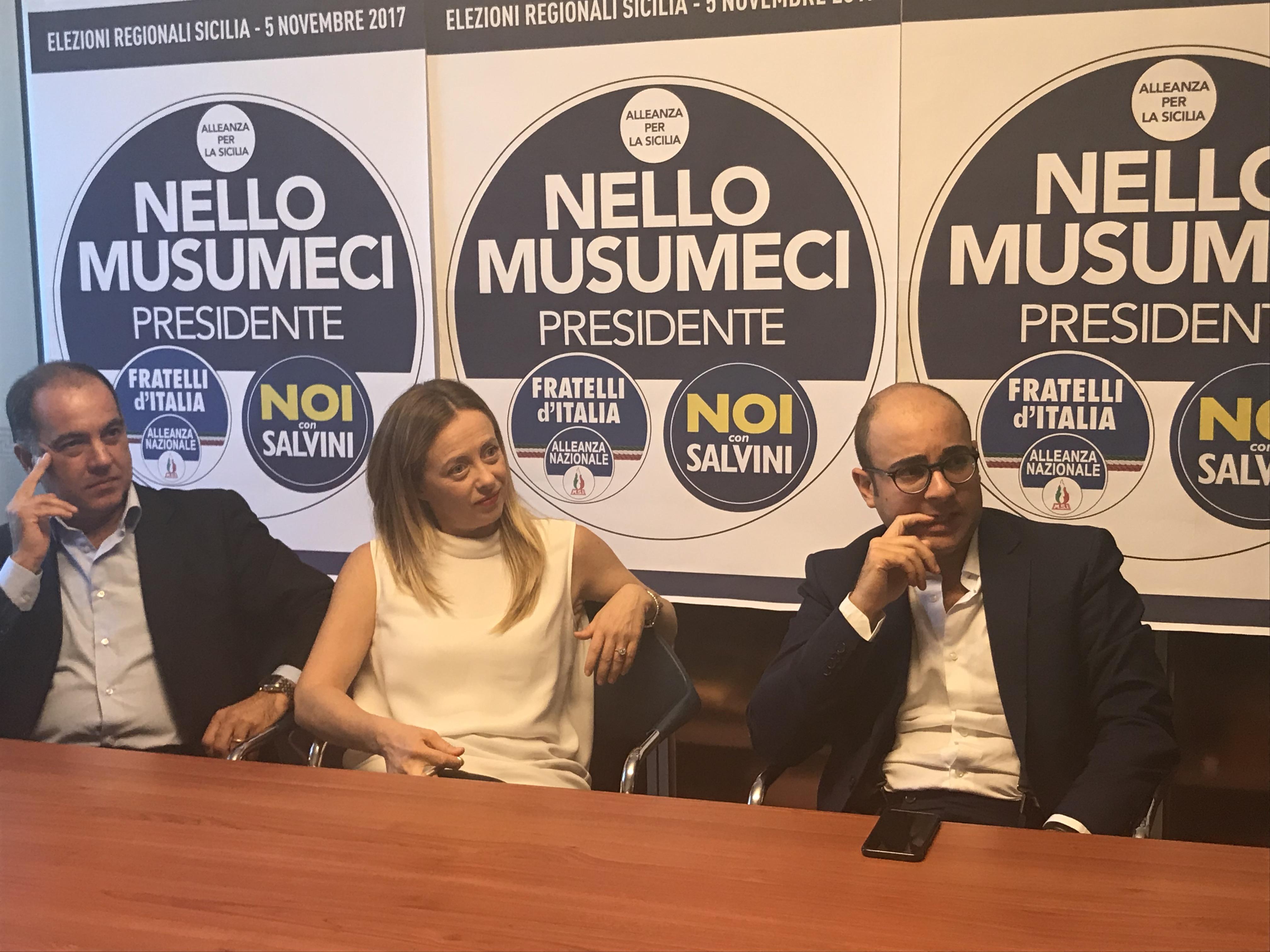 Giampiero Cannella, Giorgia Meloni, Felice D'Angelo