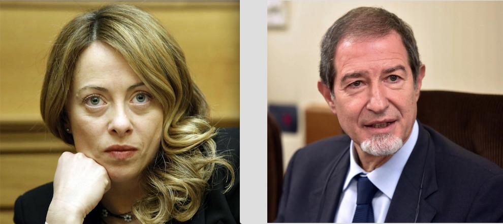 Giorgia Meloni e Nello Musumeci