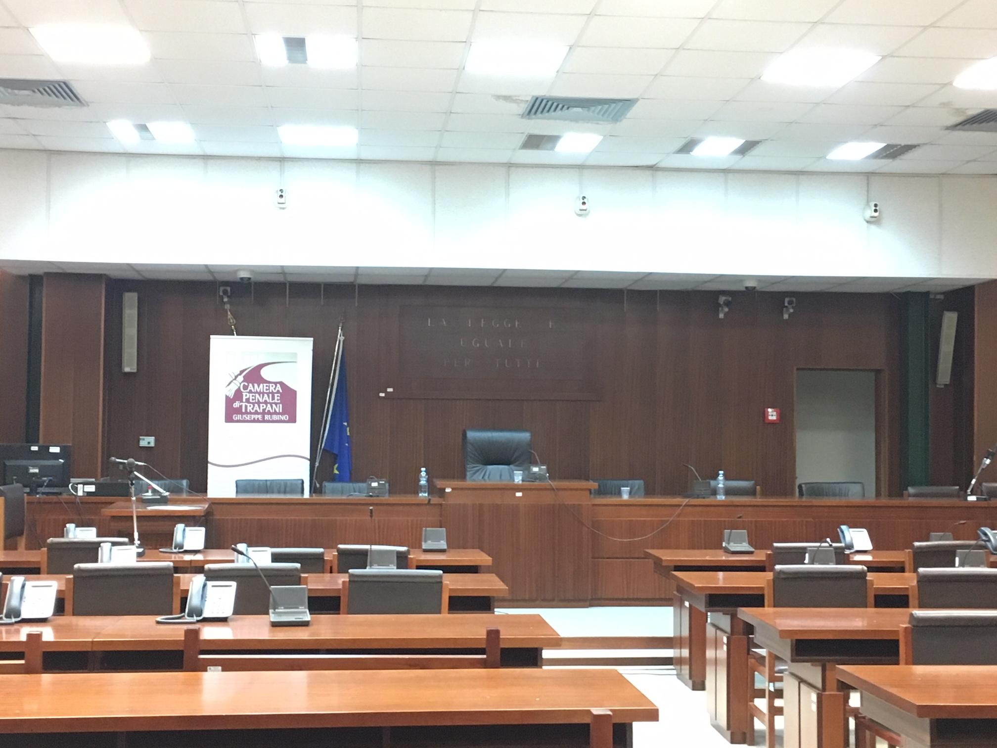 Tribunale di Trapani Aula Ciaccio Montalto