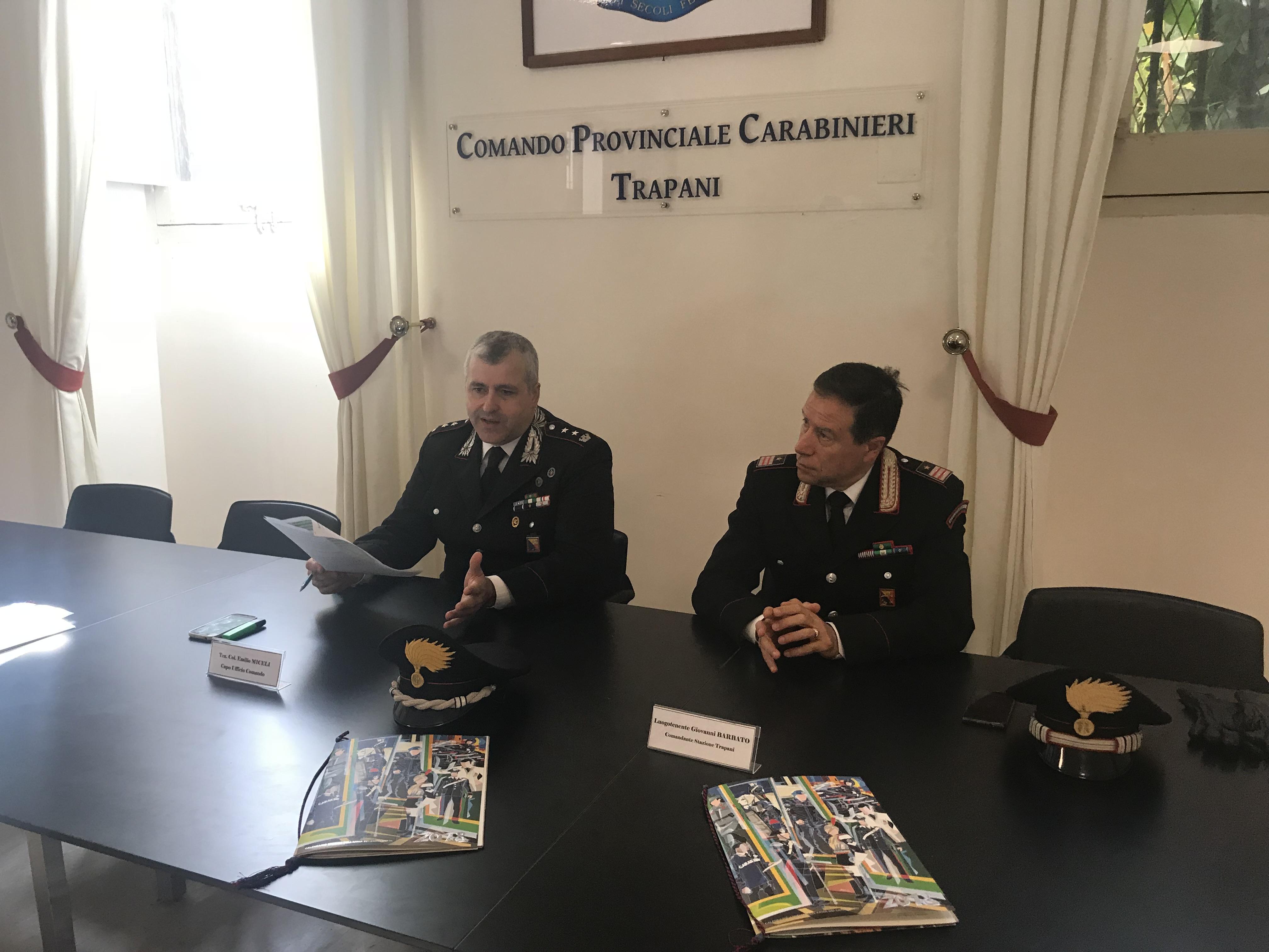 Il Tenente Colonnello Emilio Miceli e il Luogotenente Giovanni Barbato