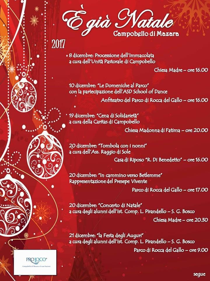 Eventi Di Natale.A Campobello E Gia Natale Ecco Tutti Gli Eventi