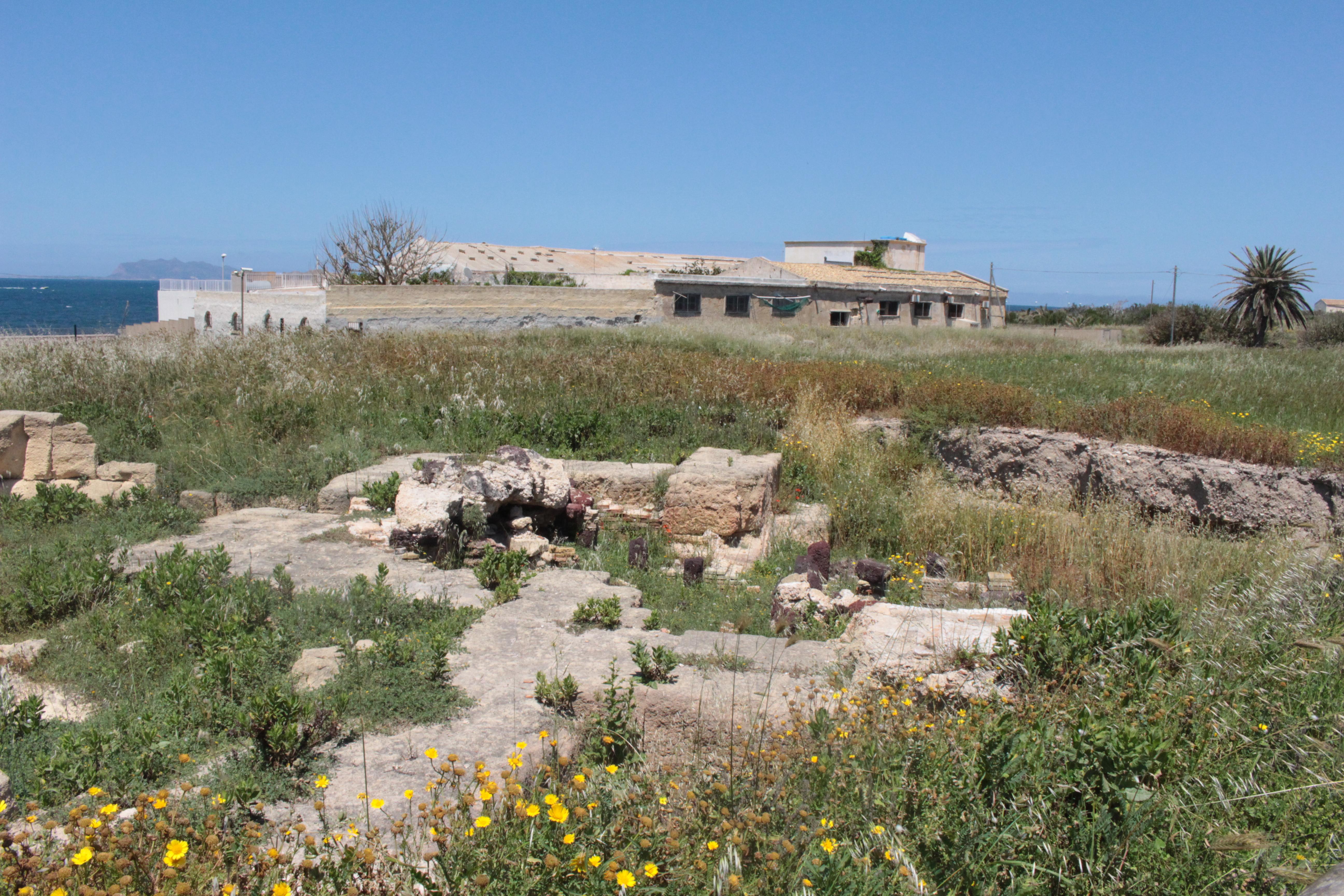 parco archeologico sommerso da erbacce