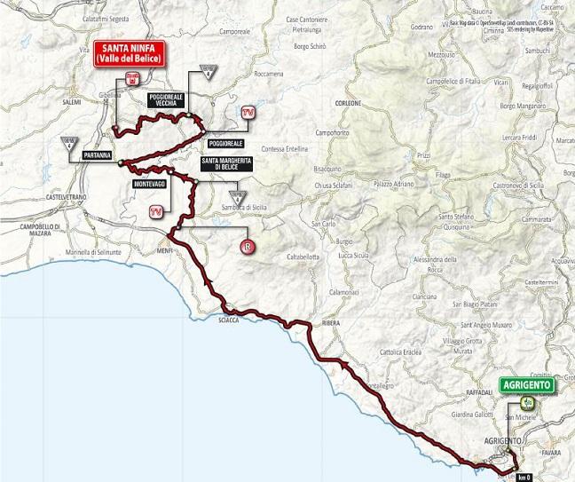 Percorso 5 tappa Giro d'Italia
