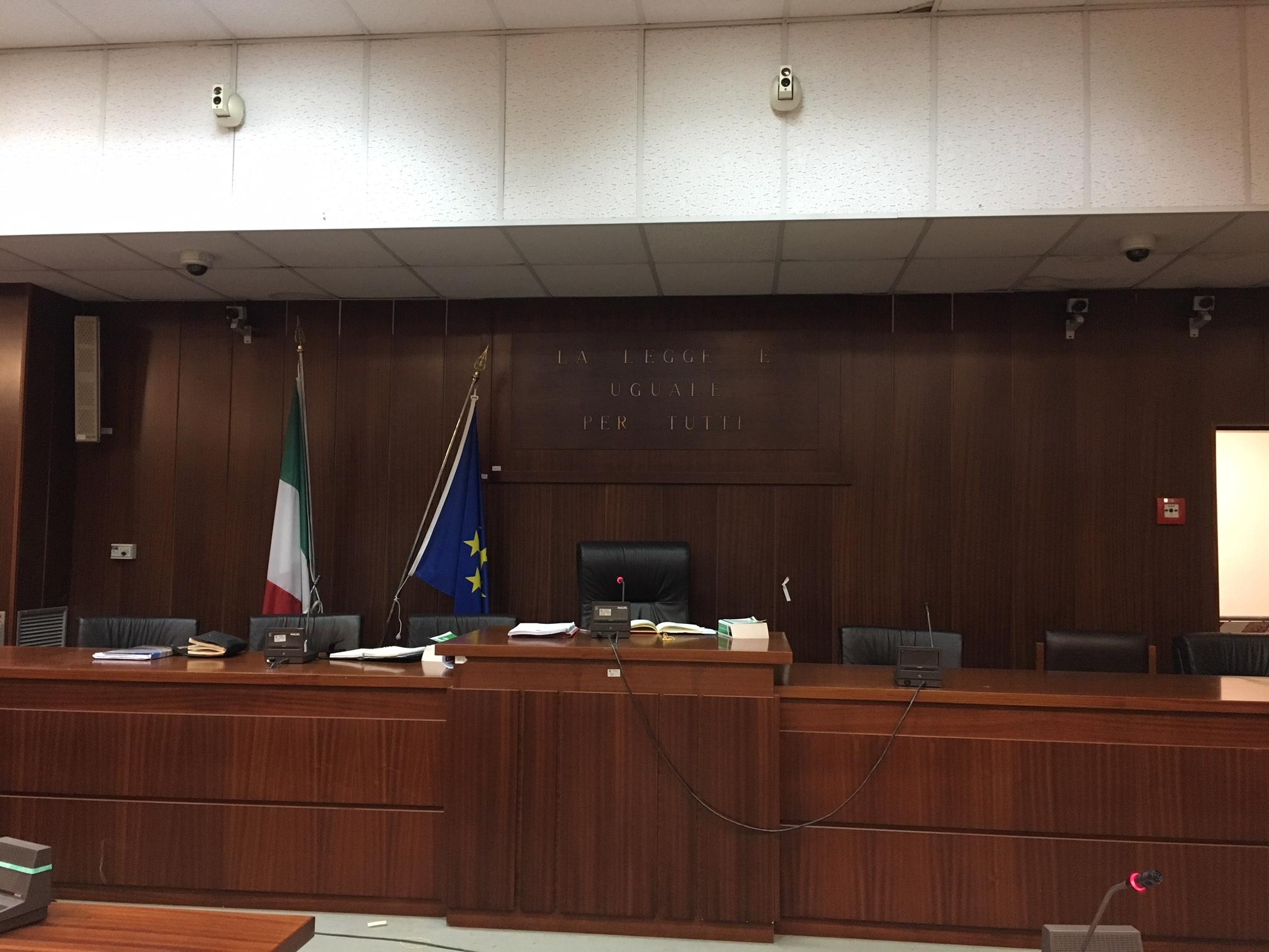 aula Tribunale Trapani processo Mirarchi