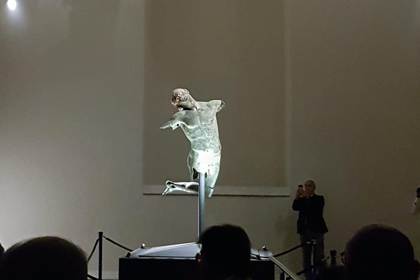 Nuova illuminazione al museo del satiro di mazara