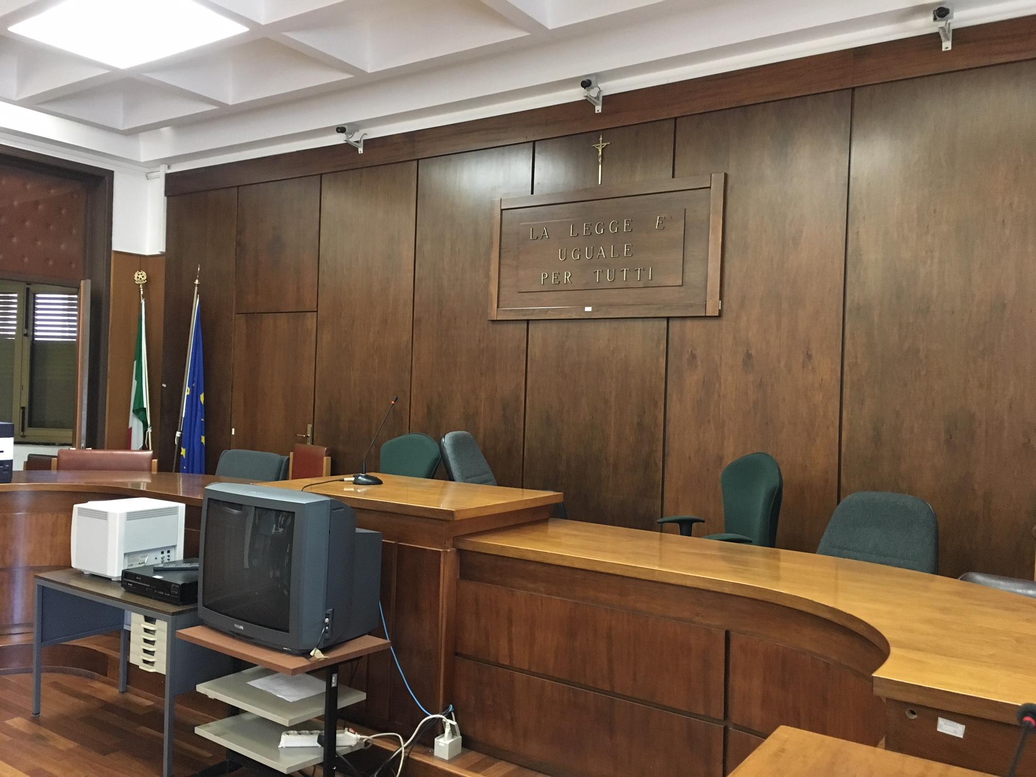 "Aula ""Paolo Borsellino"" Tribunale Marsala"