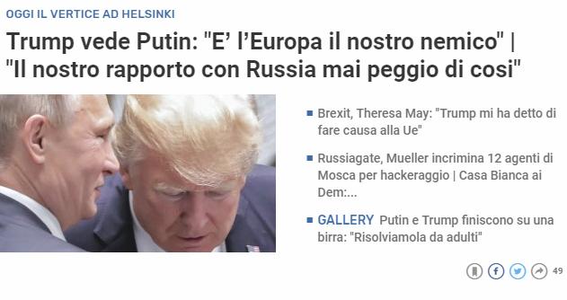 Trump, marcia indietro sul Russiagate: