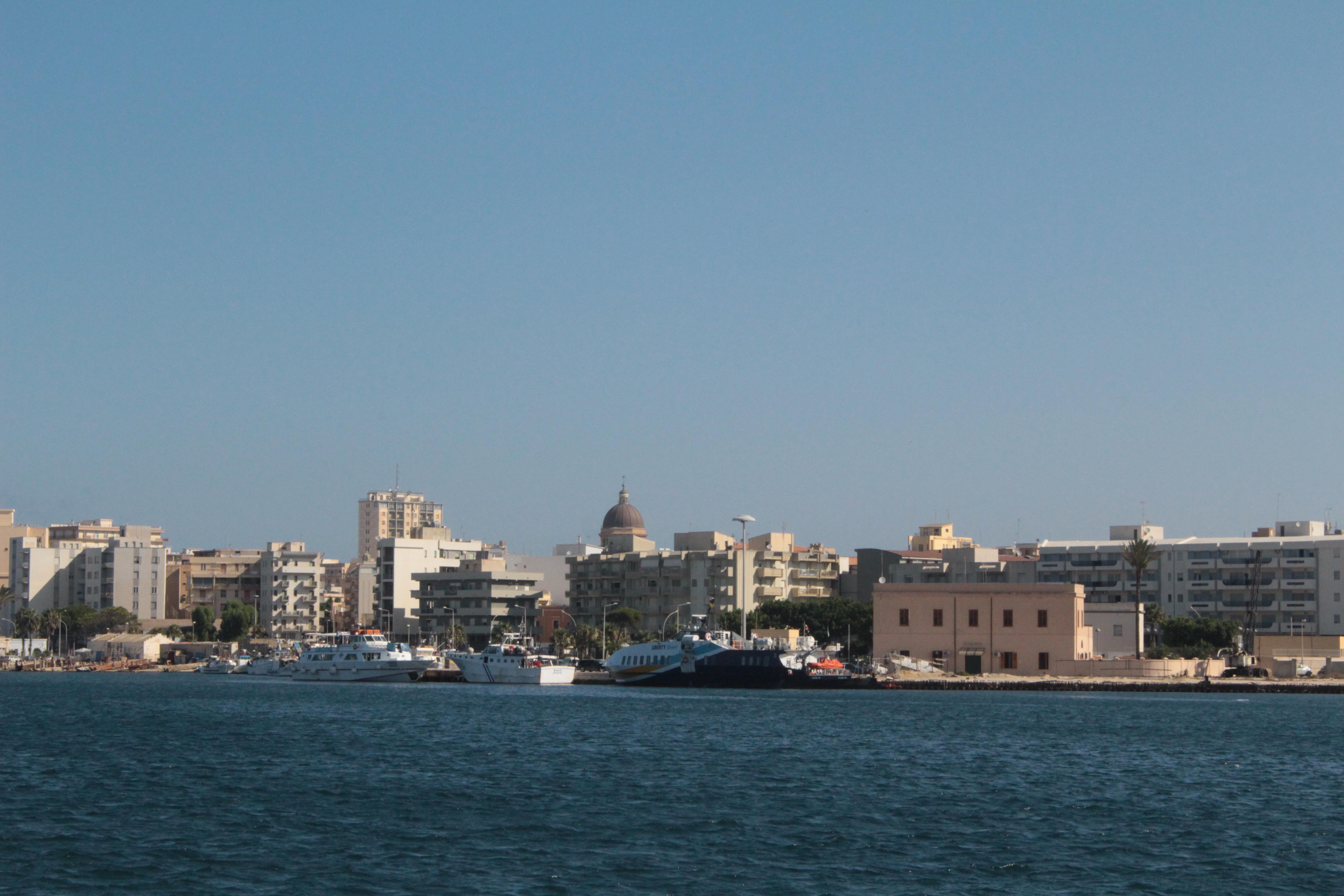Marsala vista dal Porto