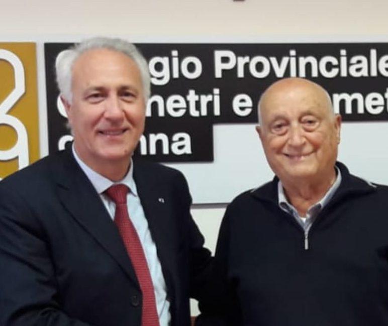 Francesco Parrinello consulta geometri
